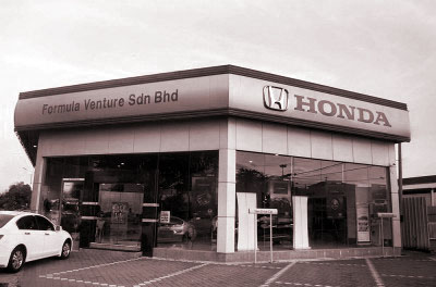 Our Honda Showroom at Bukit Mertajam, Malaysia