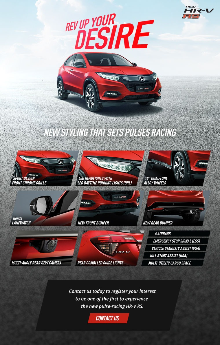 Honda HR-V RS red spec