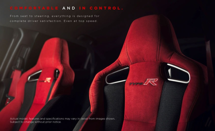 Honda Civic Type-R sporting red driving seat