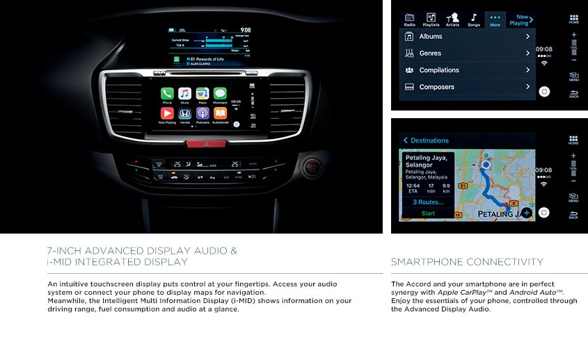 Honda Accord display and feature