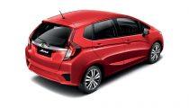 red Honda Jazz top rear view