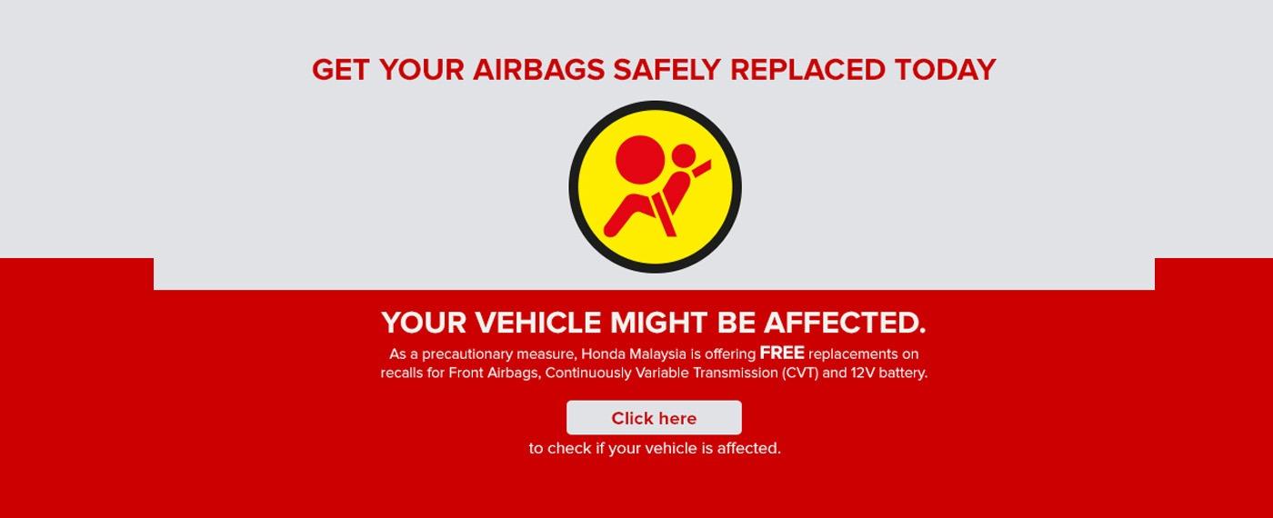 Honda Replace Airbag Reminder
