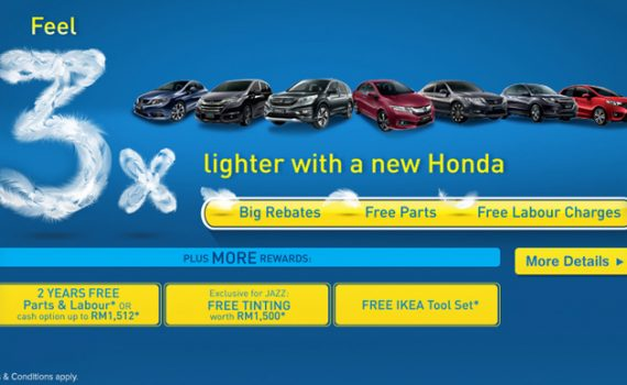 Feel 3x Lighter With A New Honda