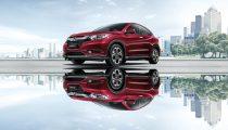 Honda HRV in Ruby Red Pearl