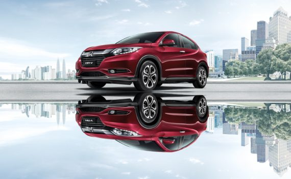 Honda HRV in Ruby Red Pearl