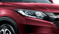 Honda HRV in Ruby Red Pearl front light