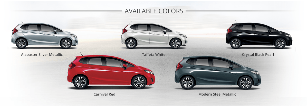 Honda Jazz available colors model