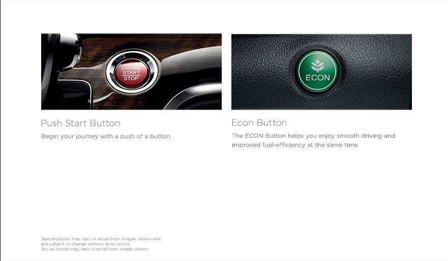 Push start and Econ button