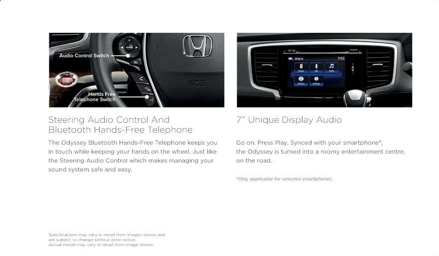 Honda Odyssey multimedia control dashboard