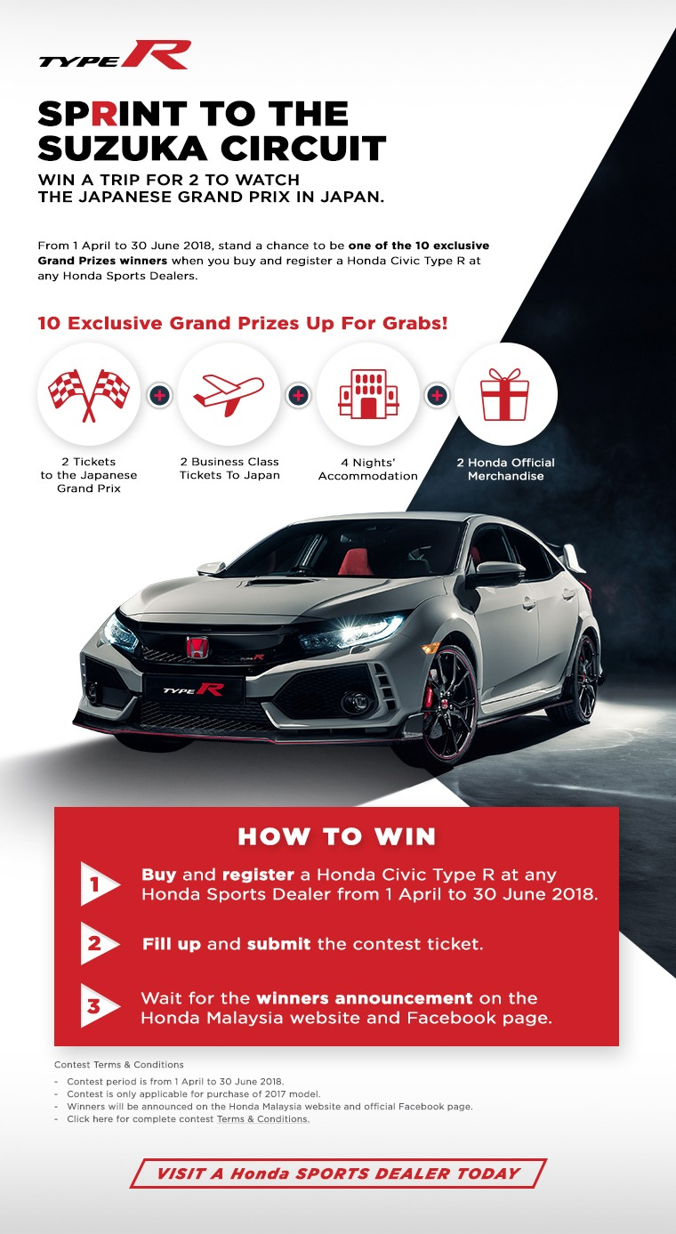 Honda Type R Sprint to the Suzuka Circuit