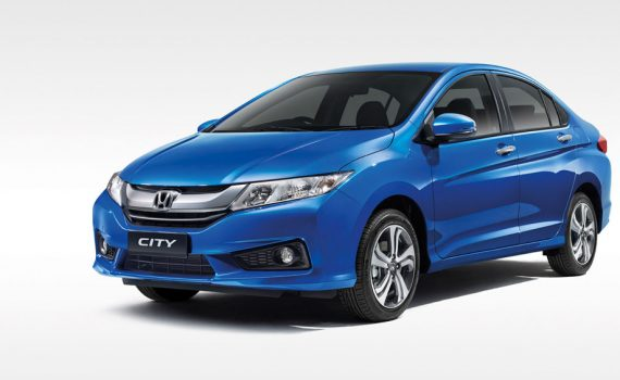 blue Honda City