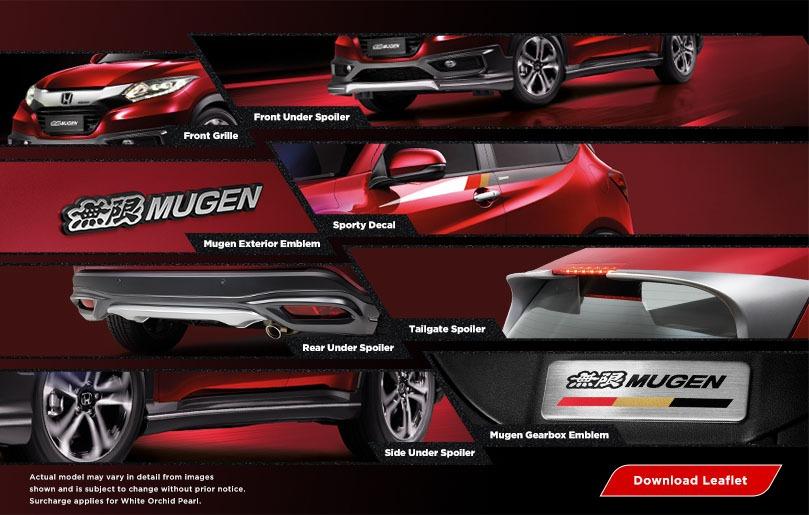 Honda HR-V Mugen dark ruby red pearl colour